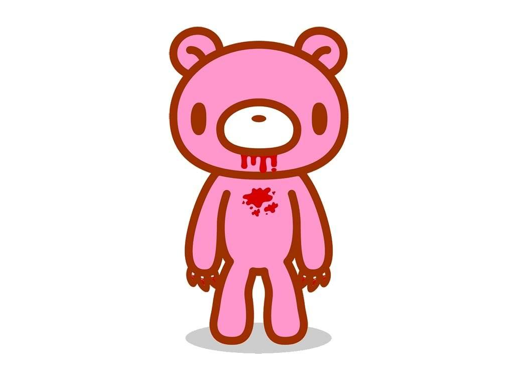 Simple Wallpaper Hello Kitty Bear - gloomy-bear-white-wallpaper  Image_765927.jpg