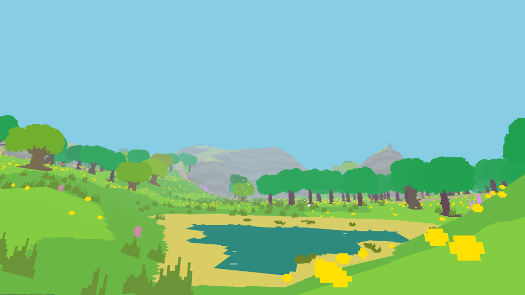 Proteus' environment is almost completely devoid of narrative elements.
