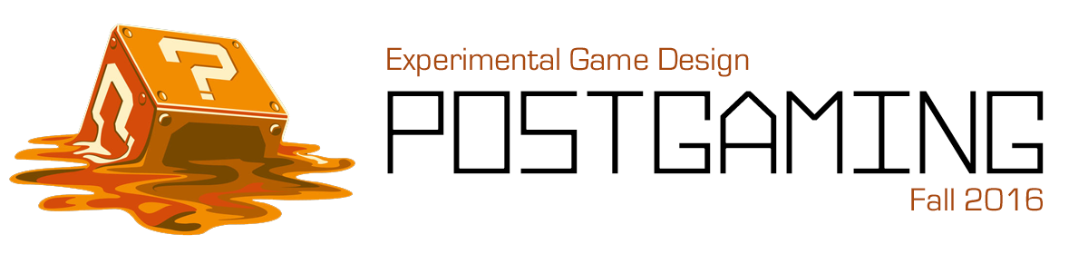Experimental Game Design – Postgaming
