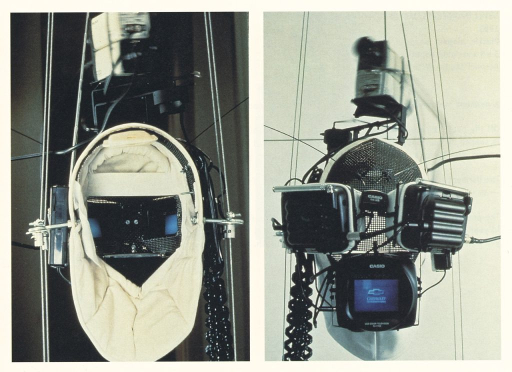 Vito Acconci, Virtual Intelligence mask, (1993)