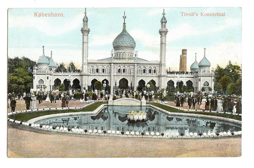 Tivoli Gardens, Copenhagen, Denmark. Early 20th century postcard