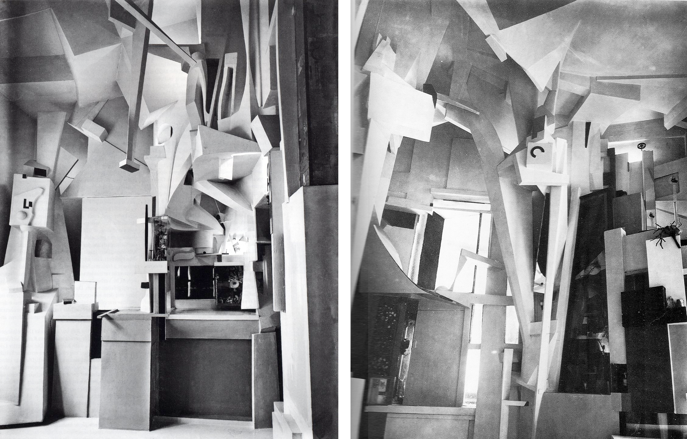 "Kurt Schwitters six rooms of the family house in Hanover ""renovated"" between 1923 and 1933"