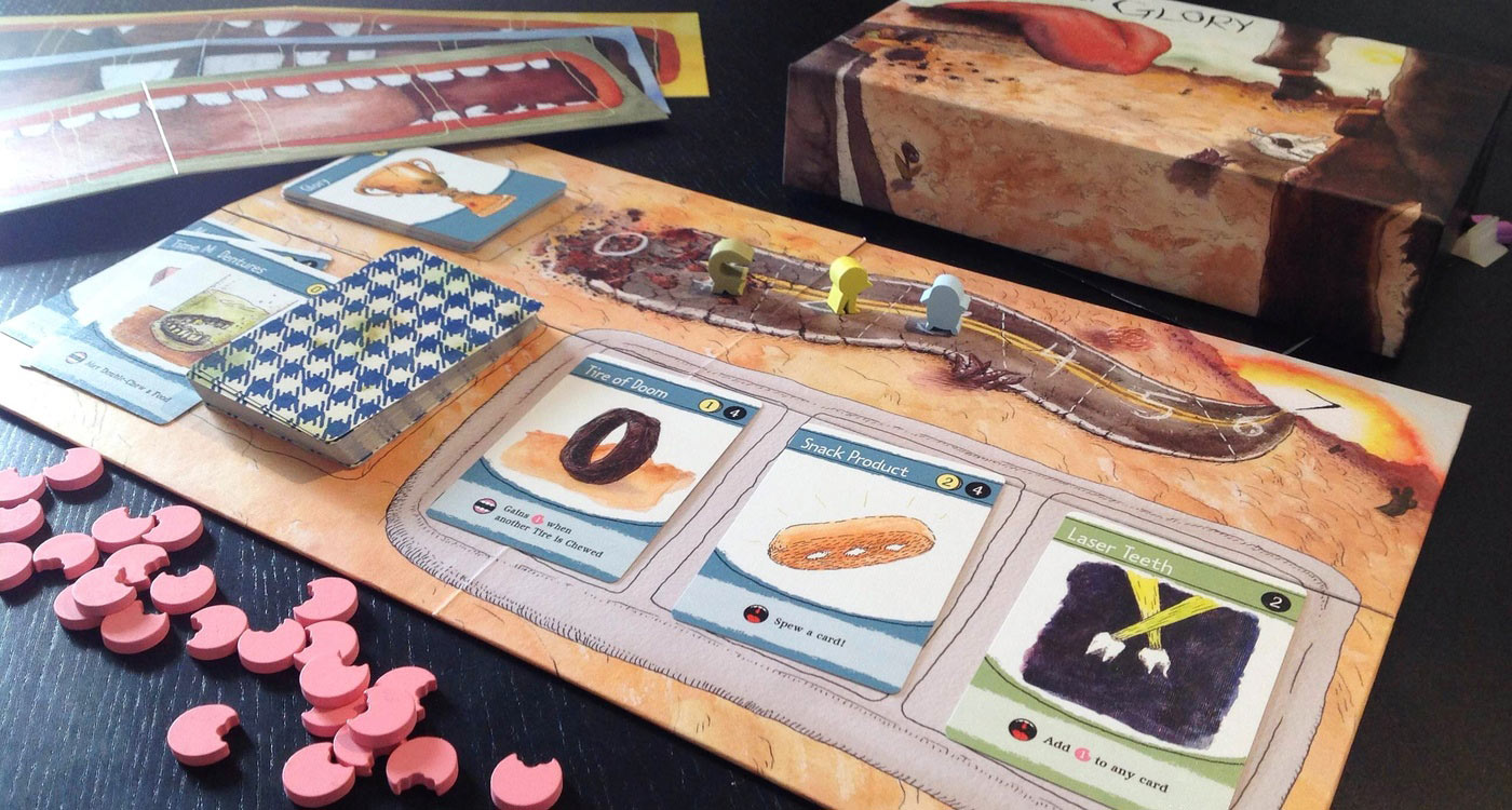 guts of glory, a post apocalyptic competitive eating game