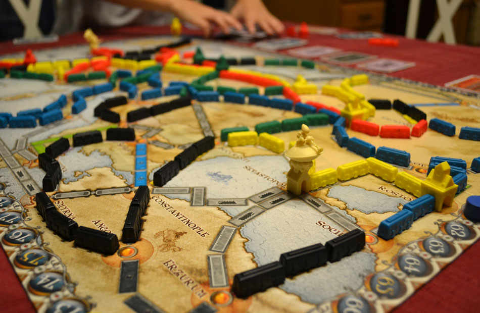 Lots of people think that ticket to ride is about building railways but... it's about traveling by train. It doesn't make any sense!